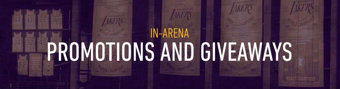 Lakers in-arena giveaways and promotions