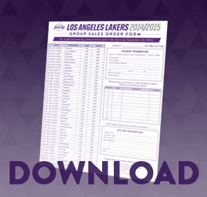 Lakers Group Tickets