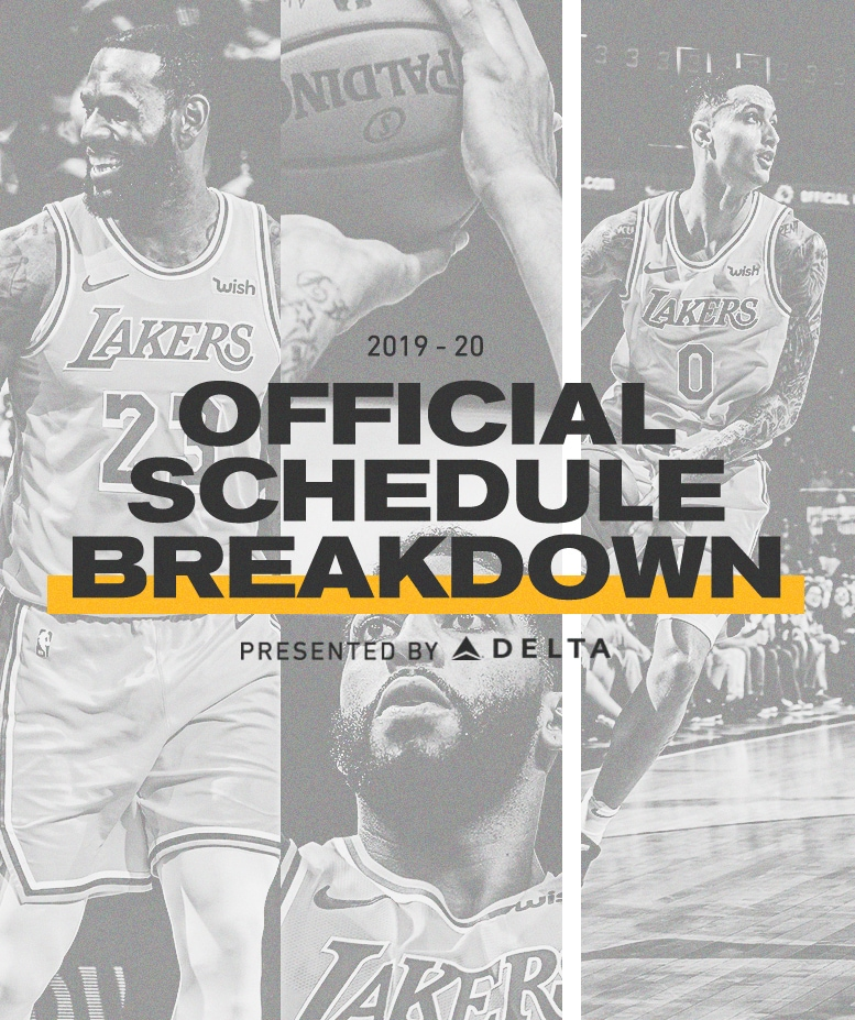 graphic about Lakers Schedule Printable titled Los Angeles Lakers