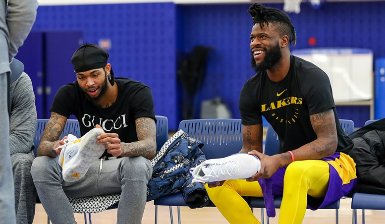 Brandon Ingram and Reggie Bullock