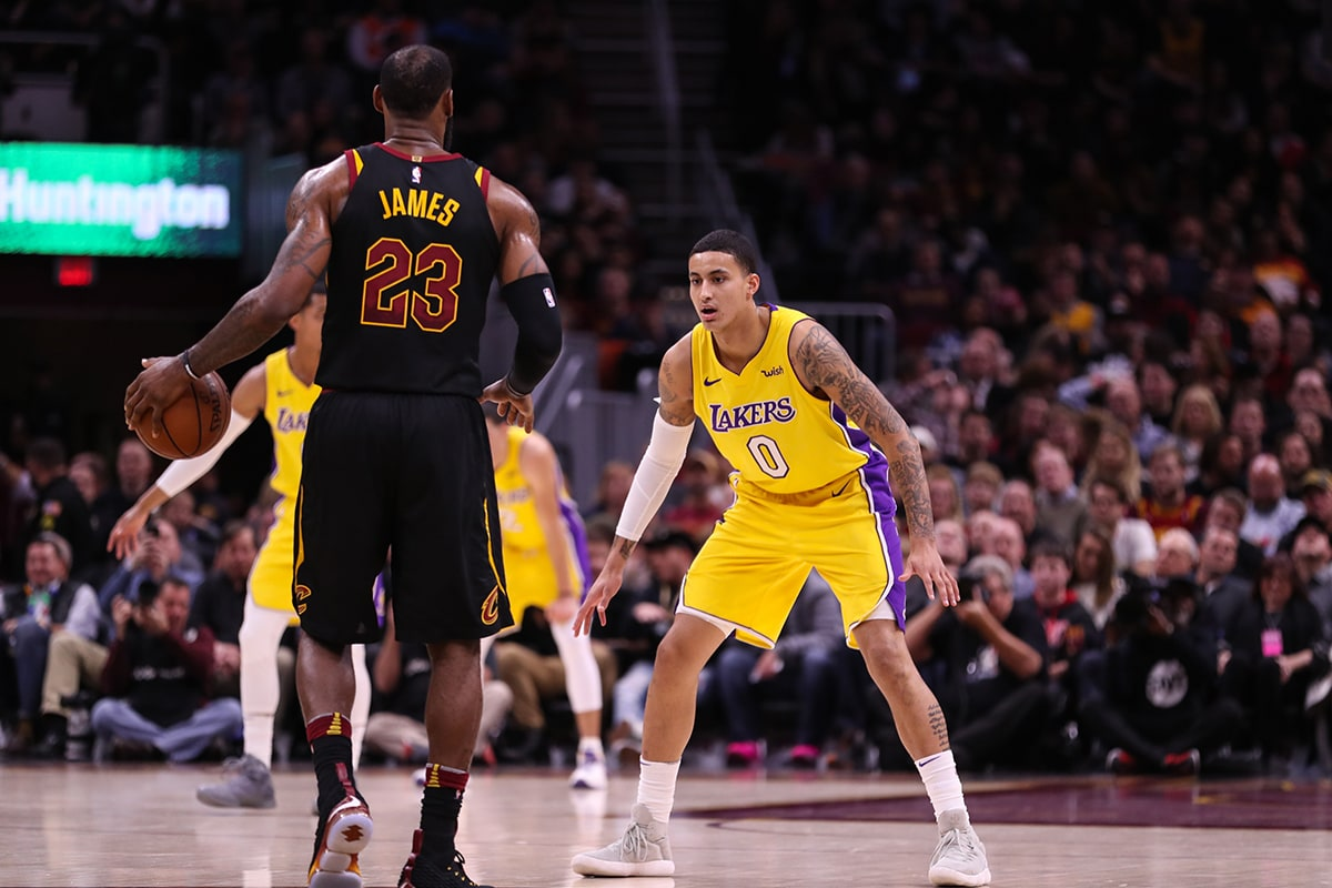 Kuzma taking on one of his toughest tasks of the year in guarding former MVP Lebron James