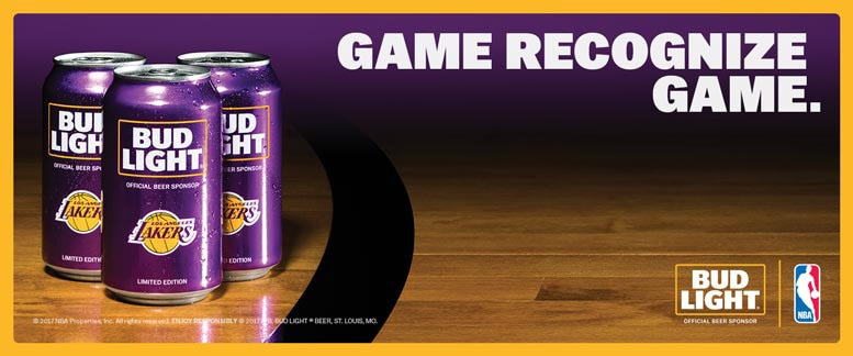 Bud Light Lakers Can