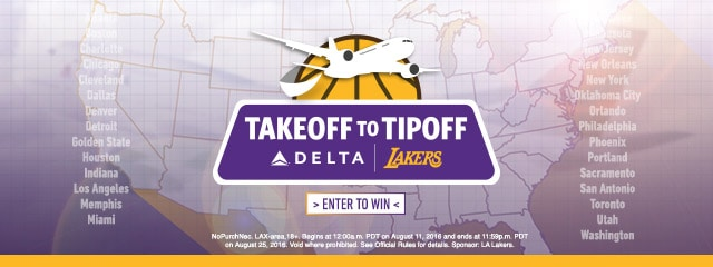 Delta TakeOff to TipOff Sweepstakes