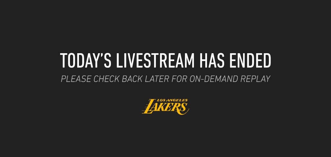 Livestream is over, check back later for on-demand replay