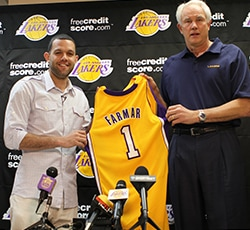 Jordan Farmar Jersey Display