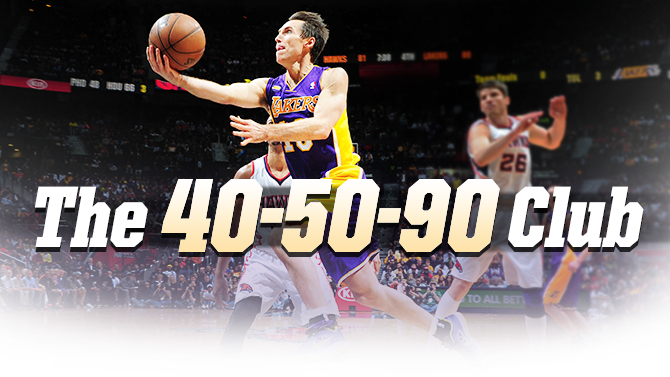 The 40 50 90 Club Los Angeles Lakers