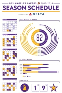 2013-14 Season Schedule Infographic