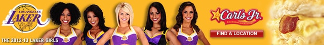 Laker Girls sponsored by Carl's Jr.