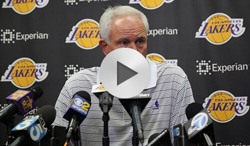 Mitch Kupchak Preseason Press Conference
