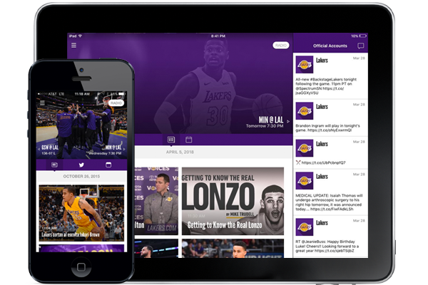 Download the Lakers Mobile App for iOS