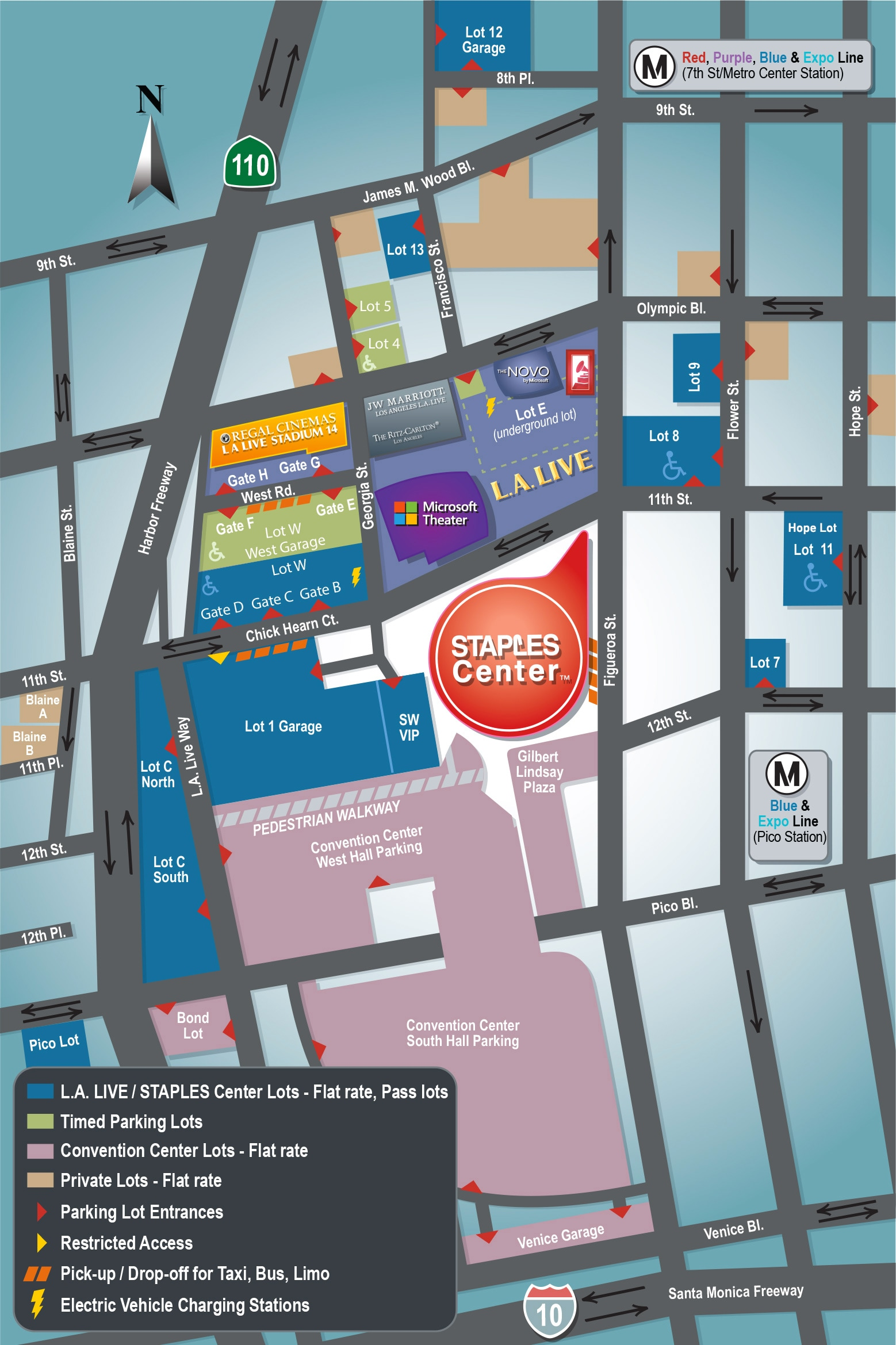 STAPLES Center Parking  Directions  Los Angeles Lakers