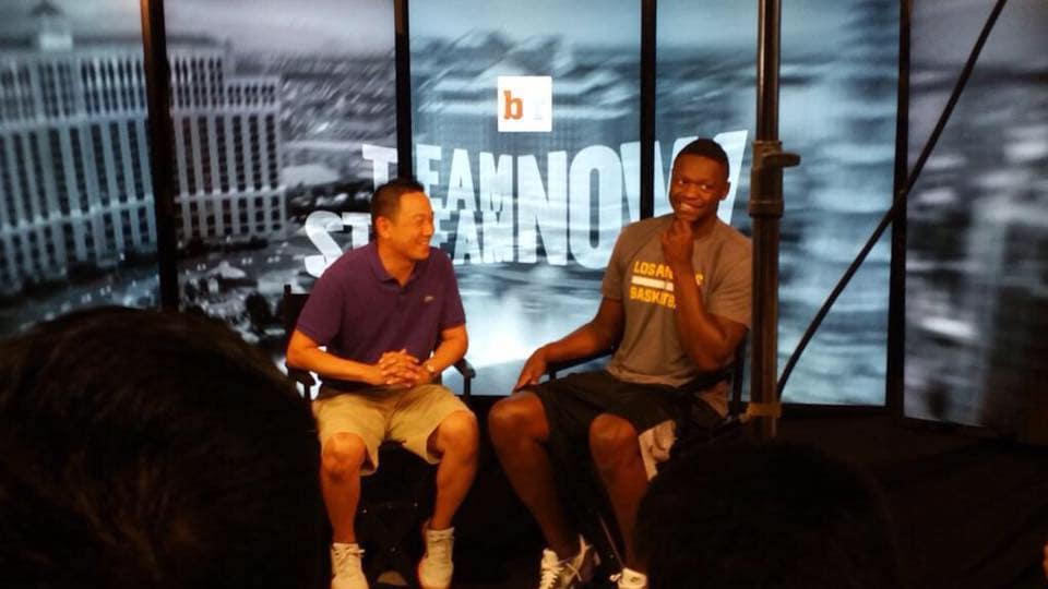 Julius Randle and Kevin Ding