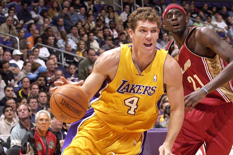 Luke Walton during his rookie season with the Lakers in 2003