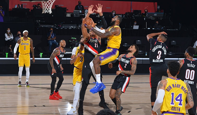 Postgame Notes Lakers Vs Blazers Game 1 8 18 20 Los Angeles Lakers