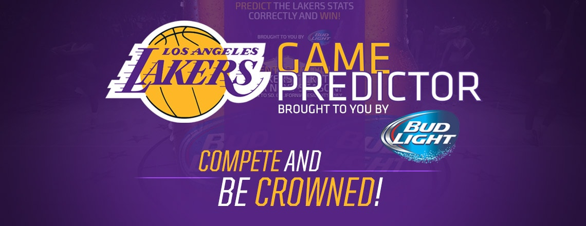 Lakers Game Predictor Sponsored by Anheuser Busch