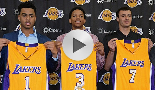 Lakers Introduce 2015 Draft Class