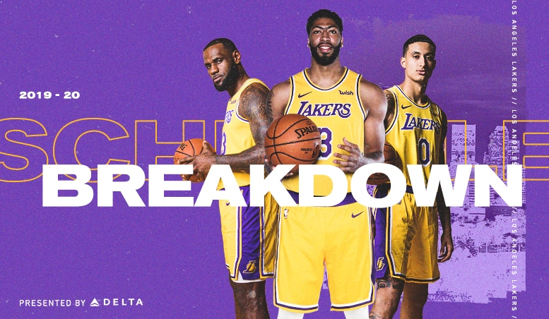 photograph regarding Lakers Printable Schedule known as 2019-20 Lakers Routine Breakdown Los Angeles Lakers