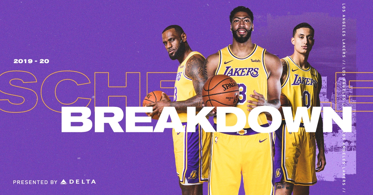 2019 20 Lakers Schedule Breakdown Los Angeles Lakers