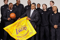 LAKERS: 2010-11 Lakers Meet President Obama