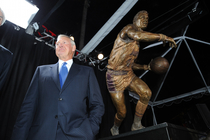 LAKERS: 2/17/11 Jerry West Statue Unveiling