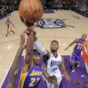 Jordan Hill hook shot over the Kings.