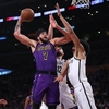 JaVale Pours in 30 Points, 20 Boards But Lakers Drop to Nets
