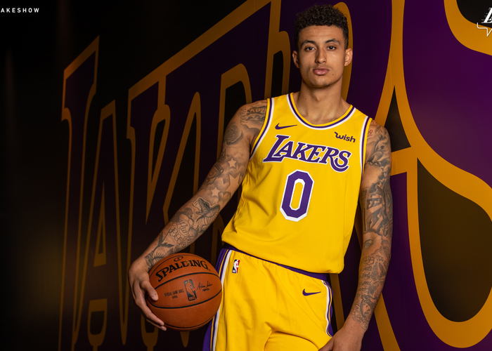 6364f96269f Kyle Kuzma wears the Lakers 2018-19 Icon uniform(Ty Nowell Los Angeles