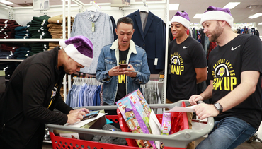 Lakers Staff Teams Up to Bring Holiday Gifts to Wildfire Victims