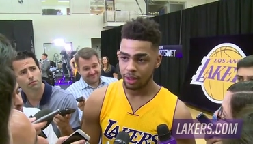 D'Angelo Russell Interview at Media Day