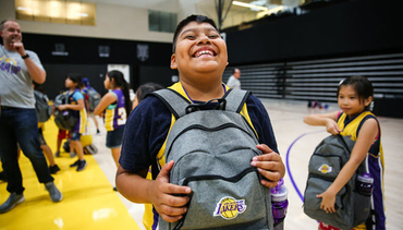 Lakers Team Up for Back to School