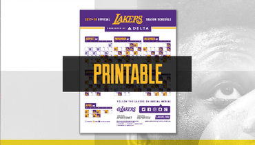 Download the Lakers printable schedule now!