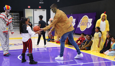 Lakers Team Up to Host Halloween at Training Center