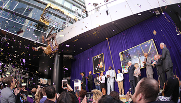 Shaq Receives Bronze Statue Outside STAPLES Center