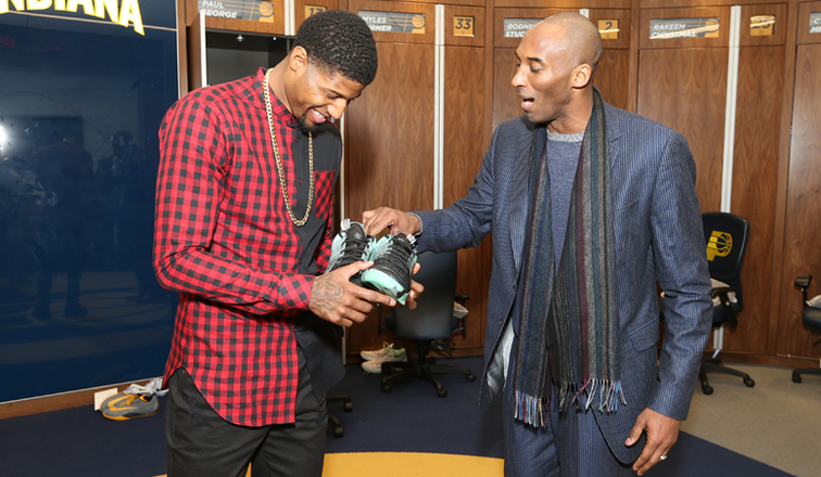 b146d60df00 Paul George Latest to Receive Shoes From Kobe