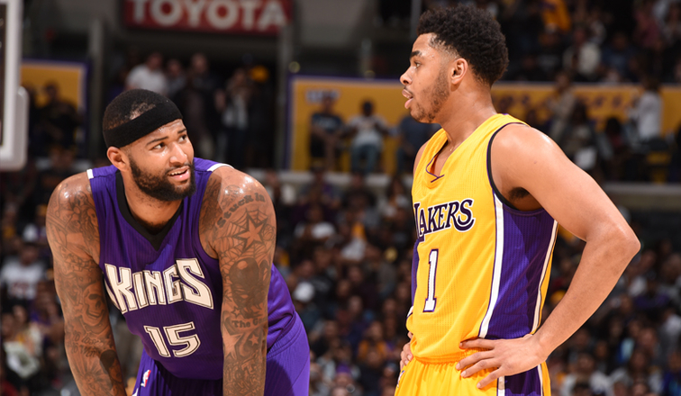 DeMarcus Cousins and D'Angelo Russell