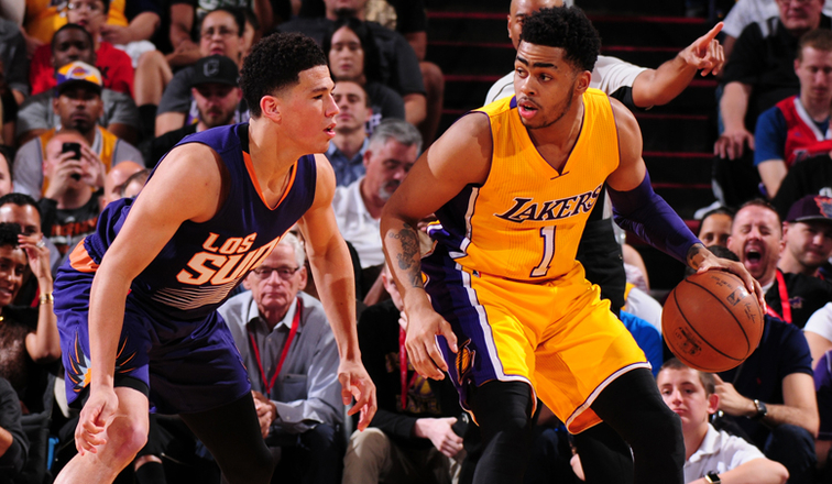 D'Angelo Russell and Devin Booker