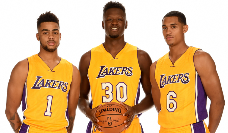 Image result for los angeles lakers russell Clarkson Ingram Randle