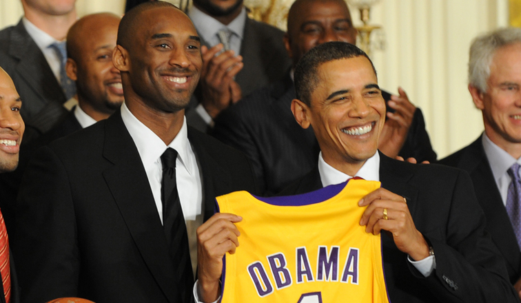 Kobe Bryant and Barack Obama