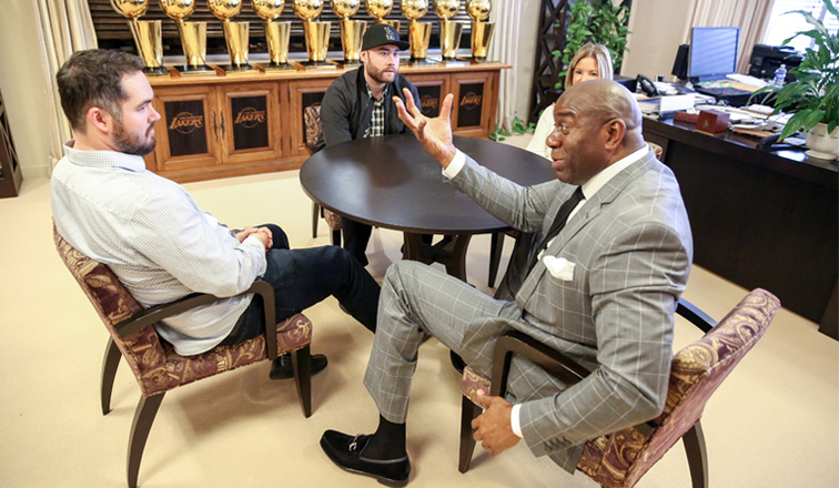 Image result for magic johnson jeanie buss