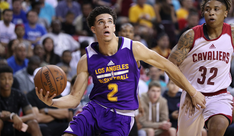 90fe32d67 Ball Doing It All for Lakers In Summer League