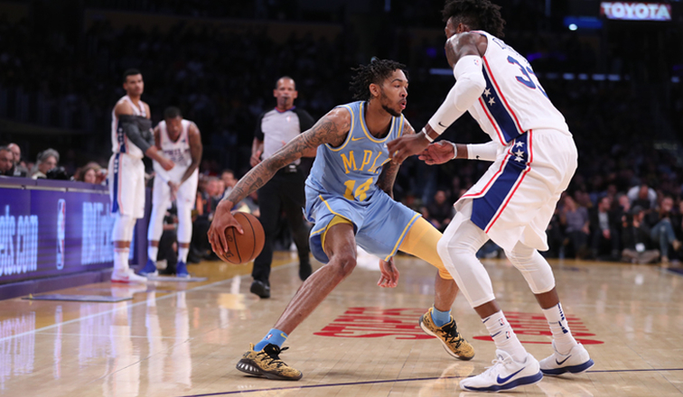 Ingram, Kuzma Score Career-Highs in Slugfest Loss to Sixers
