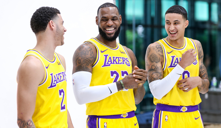 Image result for lebron james lakers media day
