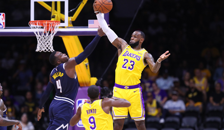 e8ecf047c99e LeBron James Makes Lakers Debut in Preseason Opener