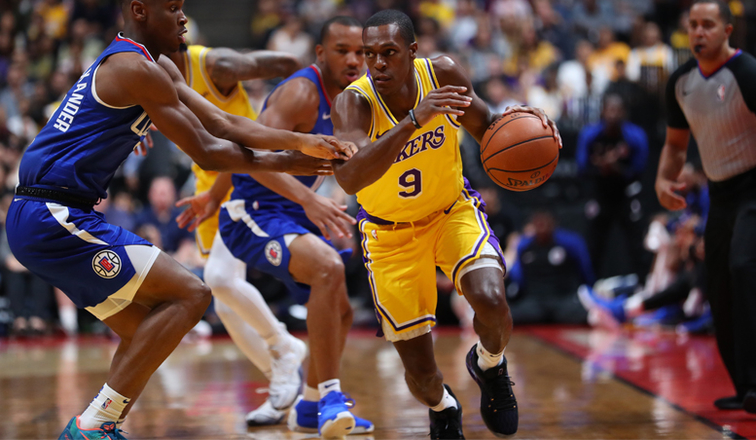 8cba1d89c7d Lakers Fall to Clippers in Anaheim Exhibition | Los Angeles Lakers