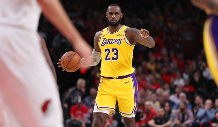 LeBron Stars in Lakers Debut, But Portland Captures Win