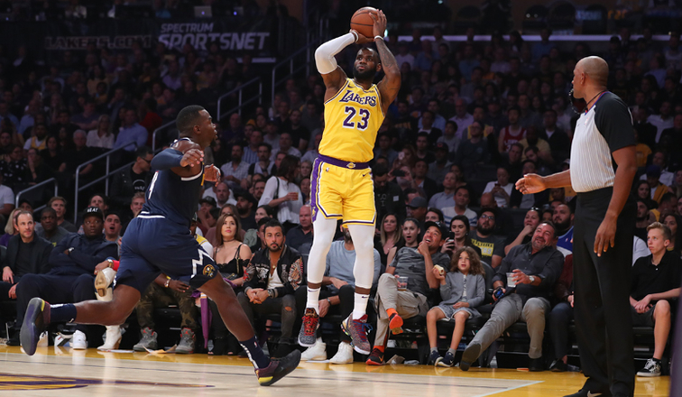 ef66d916920 LeBron Drops First Lakers Triple-Double as L.A. Hands Denver First Loss