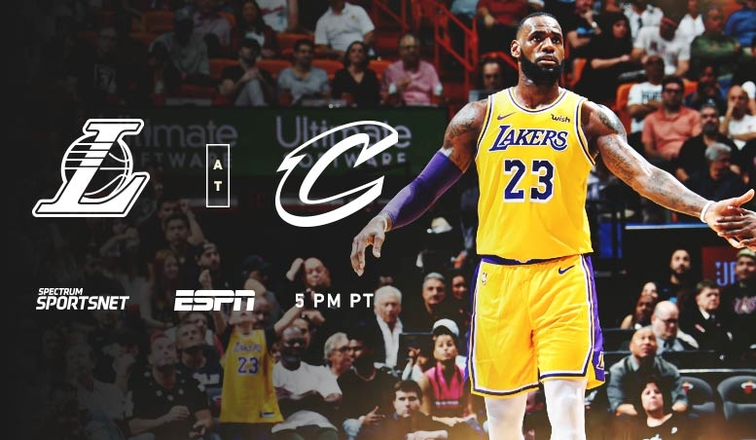 Lakers Vs Cleveland 2018 >> The King Returns To Cleveland Lakers Vs Cavs On Espn