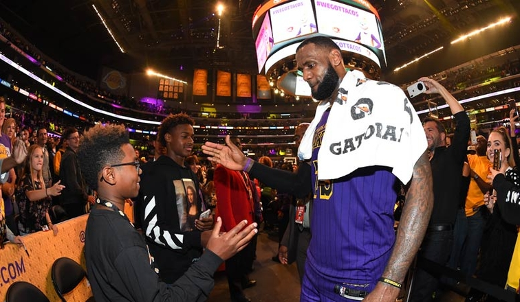 LeBron James gives son Bryce sound advice after tough game