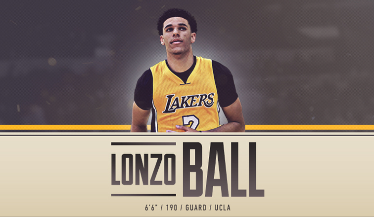 Lakers Draft Lonzo Ball with Second Overall Pick  8b0d91787