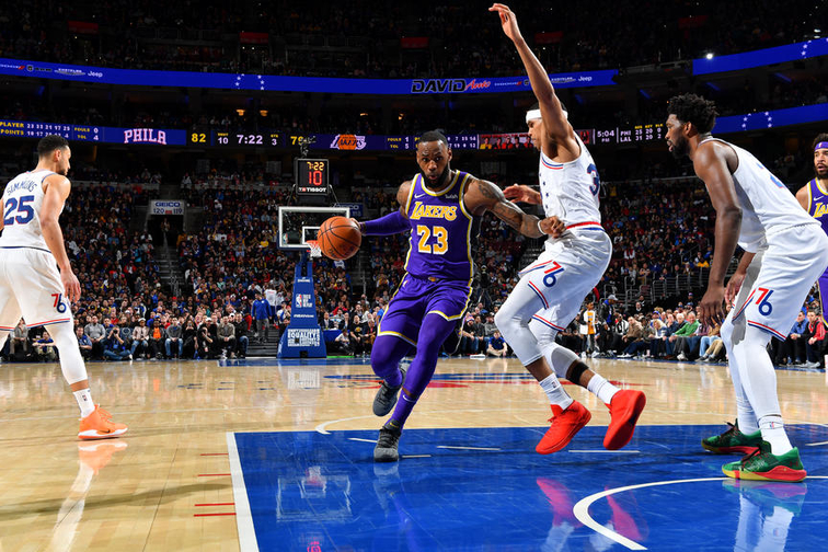 Los Angeles Lakers v Philadelphia 76ers